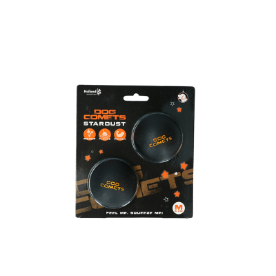 Dog Comets Ball Stardust Schwarz Orange M 2-pack
