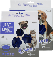 Eat Slow Live Longer Amaze Flower Blue S