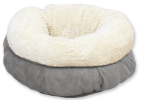 AFP Lambswool Donut Bed Grau