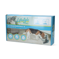 AFP Lifestyle 4 Pet-3 In 1 Elevated Double Dinner - M